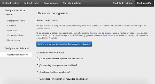 Cómo generar ingresos con tus vídeos en tu canal de YouTube